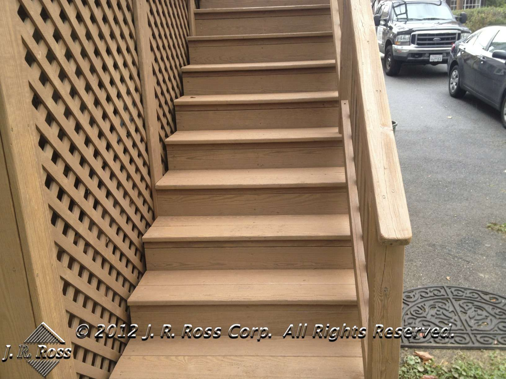 deck stairs restaining