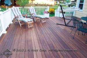 patio deck staining